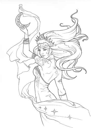 goddess nyx house of night fairy coloring pages adult