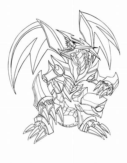 Dragon Coloring Pages Eyes Yu Oh Gi