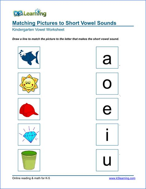 vowels words worksheets www pixshark images