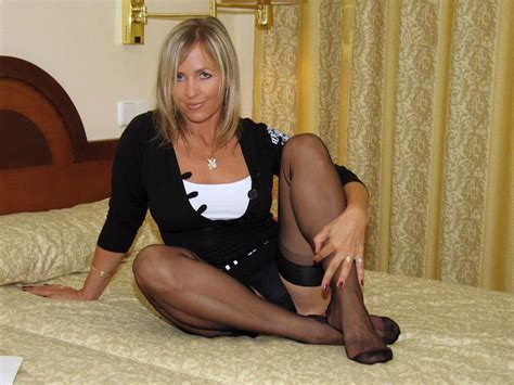 Sexy In Stockings Milf Luscious