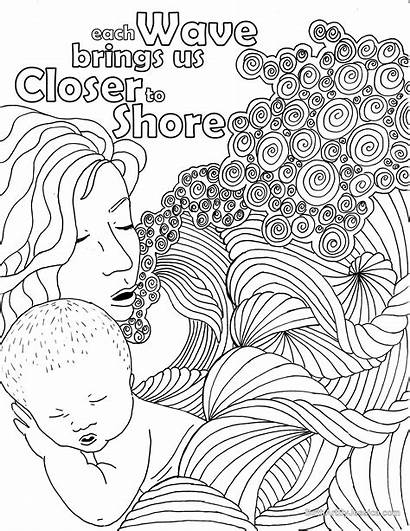Birth Affirmations Pregnancy Coloring Affirmation Water Pages