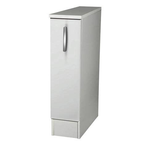 meuble à épices cuisine meuble de cuisine bas 1 porte blanc h86x l15x p60cm