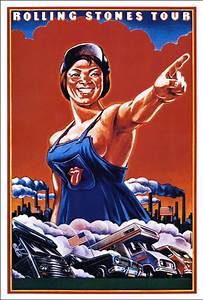 Rolling Stones 1978 Factory Girl Concert Poster