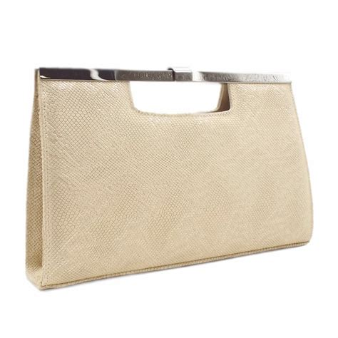 Peter Kaiser UK  Wye  Sand Tiles Clutch Bag  Matching Set