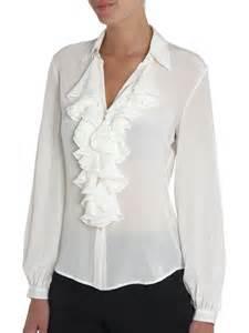 lauren by ralph lauren ruffle front silk blouse review