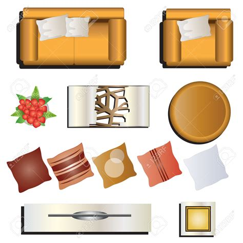 sofa vector top view furniture clipart top view pencil and in color furniture
