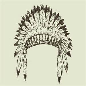 Vector Indian Feather Hat