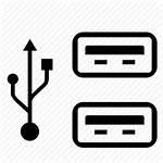 Usb Icon Computer Ports Pc Clipart Port