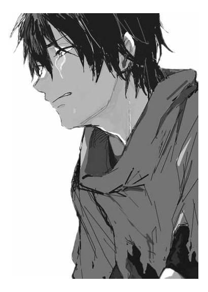 Sad Anime Boy Depressed Crying Smile Drawings