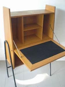 Bureau Secretaire Vintage : bureau vintage secr taire ann es 50 60 design inclin ~ Teatrodelosmanantiales.com Idées de Décoration