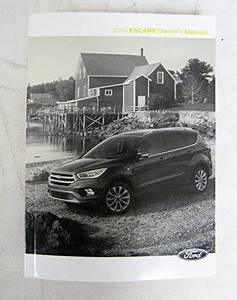 2018 Ford Escape Owners Manual Guide Book Set With Case