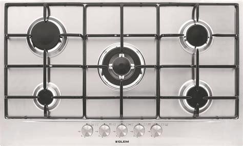glem piani cottura piano cottura glem gas gas 5 fuochi 90 cm gt955ix