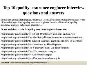 Top 10 Quality Assurance Engineer Interview Questions And