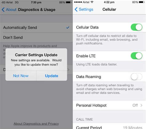 how to enable on iphone 5s iphone lte toggle for airtel removes 2g toggle users