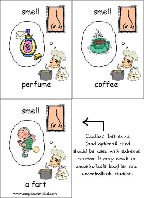 smell activities for preschool five senses flashcards 569