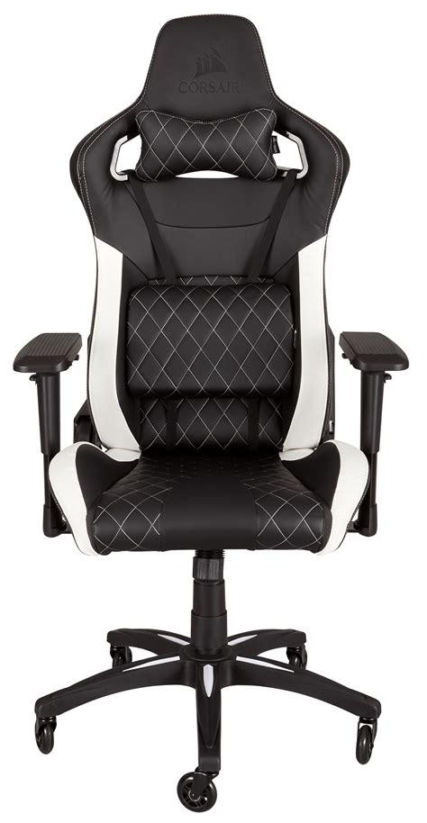 corsair t1 race gaming chair black white