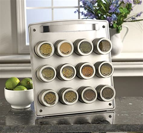 Kamenstein Spice Rack Refills by Kamenstein Magnetic 12 Tin Spice Rack With Free Spice