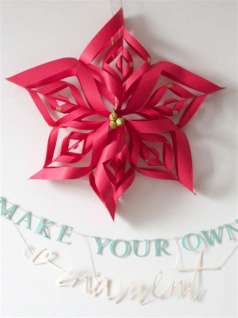 paper snowflake star christmas ornament hgtv