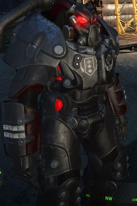 standalone   brotherhood  steel power armor paint set  ranks fallout  fo mods