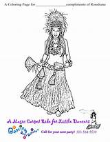 Coloring Hula Dancer Dancers Pages Pg Pinkalicious Colouring Printable sketch template