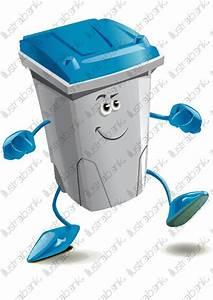Poubelle De Tri Selectif : poubelle bleue de tri s lectif illustration libre de droit ~ Farleysfitness.com Idées de Décoration