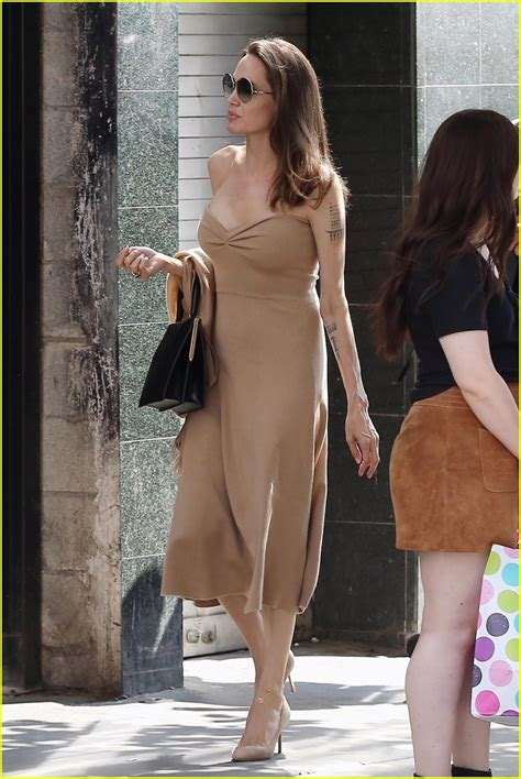 angelina jolie steps   lunch  son pax  la