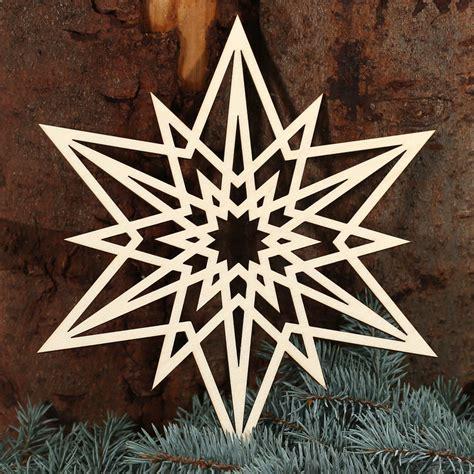 stern fensterbilder deko aus holz und acrylglas fuer