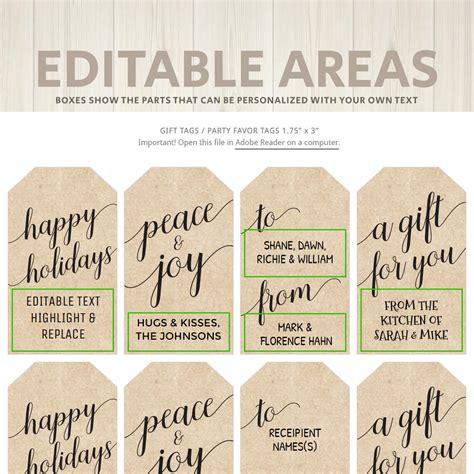 printable christmas gift tags kraft white hands