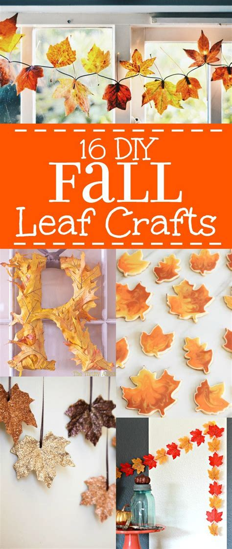 16 Fall Leaf Crafts  Diy Fall Decorations And Crafts Ideas Made With Leaves That Are Cheap