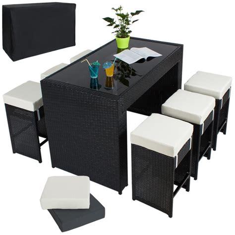 table haute salon de jardin rotin r 233 sine tress 233 synth 233 tique 6 tabourets rotin noir helloshop26