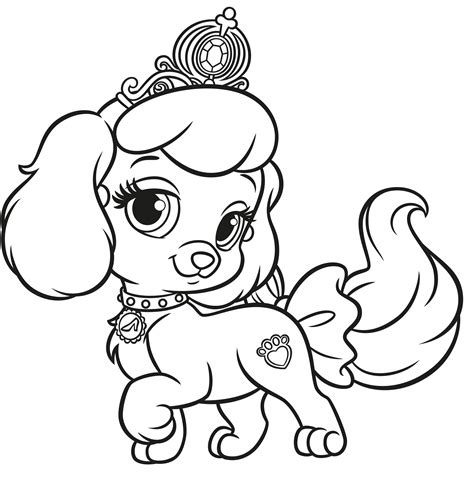 Princess Palace Pets Windflower Coloring Pages Summer