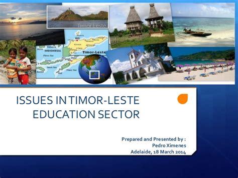 Issues In Timor Leste Education