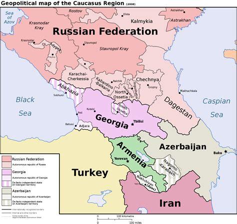 Caucasus Mountains Political Map