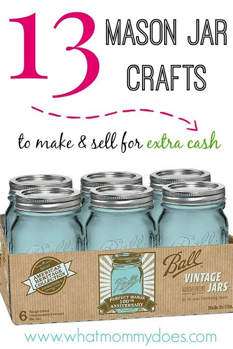 mason jar crafts   sell  extra cash jar