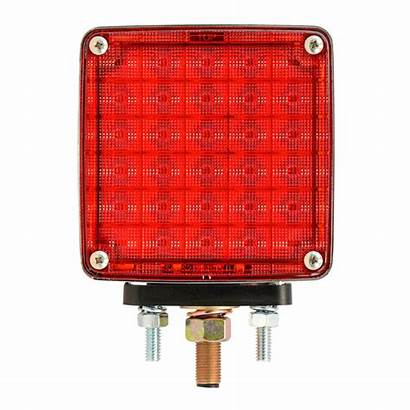 Face Led Square Side Amber Pedestal Double