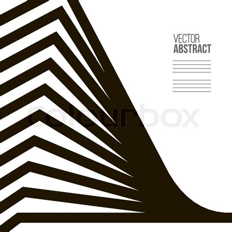 Geometric Vector Black And White Background Architecture