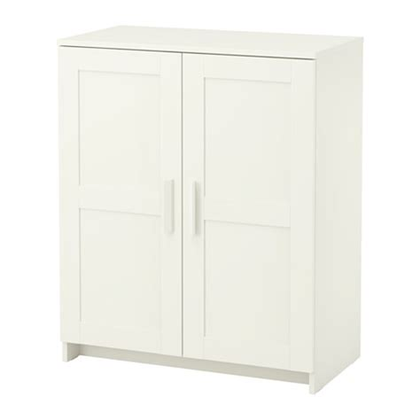 White Storage Cabinets With Doors by Brimnes Cabinet With Doors White Ikea