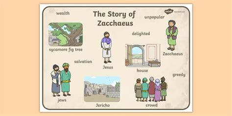 zacchaeus the tax collector bible story word mat mats
