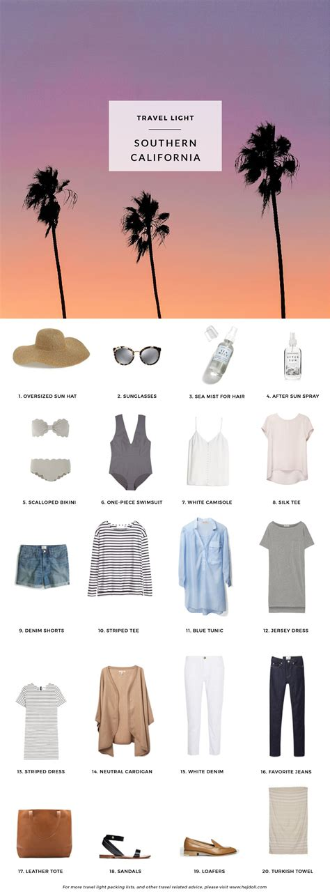 What To Pack For Southern California 20 Items 10 Days