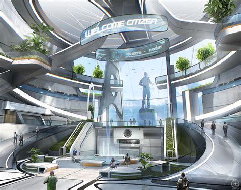 Pin By Yi Mu On 科幻场景 Sci Fi City Sci Fi Environment