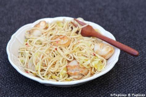 spaghettis aux poireaux et noix de jacques