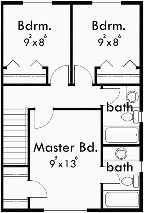 Duplex Plans With Basement, 3 Bedroom Duplex House Plans