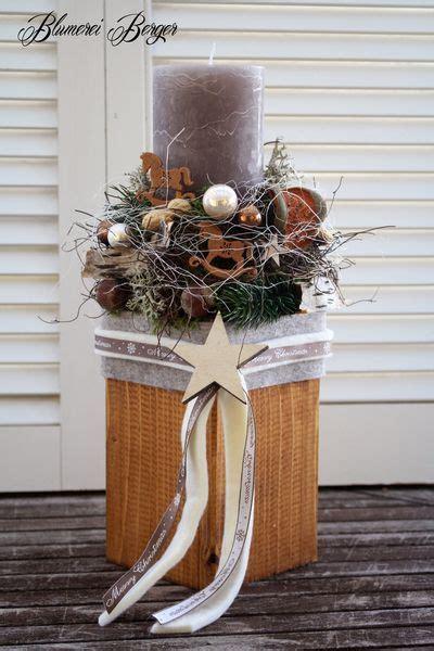 Weihnachtlicher Kerzenhalter Tannenbaeumchen by Adventsgesteck Xl Blumerei Berger