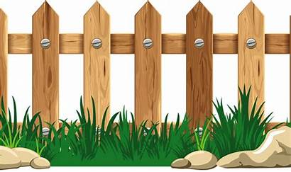 Fence Cartoon Wooden Wood Border Thing Graphic