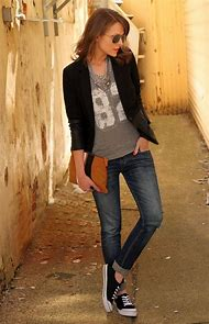 Casual Black Blazer with Jeans