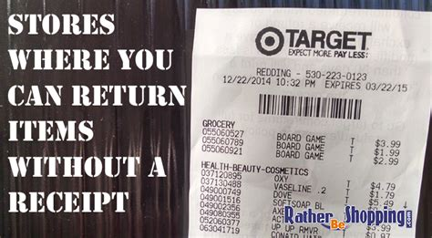 which stores allow you to return items without a receipt