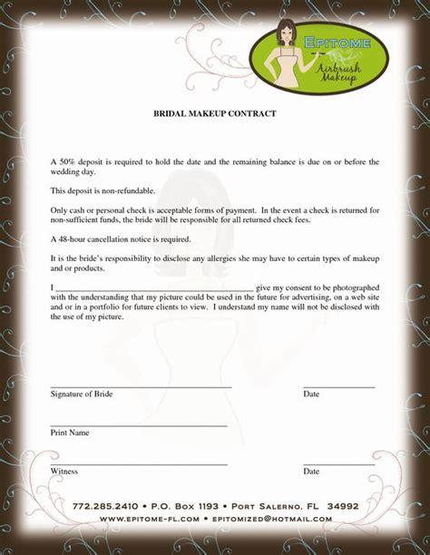 makeup artist contract form makeup artist contract template mua pinterest