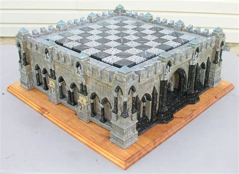 3d Dungeon Tile Molds by A Chess Board Shaped Like A Castle Made With Hirst