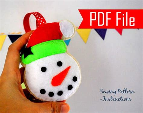snowman christmas ornament sewing pattern a872 the