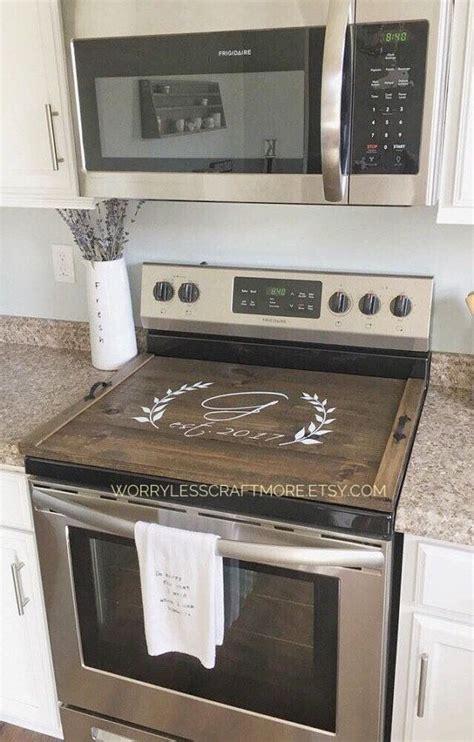 description personalized stove top cover personalized